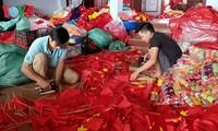 Tu Van, flag making village in Hanoi