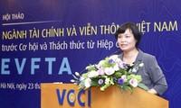 Workshop discusses EVFTA's impact on financial, telecom sectors