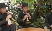 Pi Le panpipe, a traditional musical instrument of the Giay