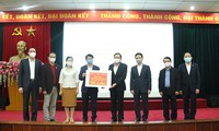 4.3 million USD from text message donation presented to the Ministry of Health