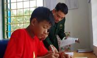 Border guards' adopted children imagine a brighter future