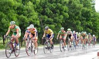 """Lancement de la course cycliste """"Retour à Truong Son"""""""