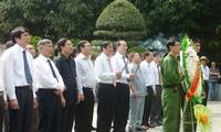 Nguyen Thien Nhan au 44è anniversaire de la mort des héroïnes de Dong Loc