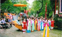 """Le """"chèo tàu"""", une spécialité de Tân Hội"""