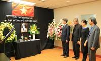 Hommages du général Vo Nguyen Giap aux ambassades du Vietnam à l'étranger