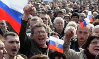 Réactions de l'Ukraine concernant le rattachement de la Crimée à la Russie