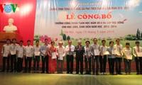 Remise des prix du concours de mathématiques 2013 et des bourses aux élèves et étudiants.