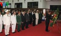 Les responsables vietnamiens aux funérailles des dirigeants laotiens