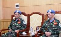 Prochain départ des deux premiers casque-bleus vietnamiens
