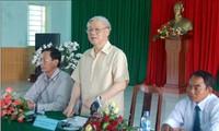 Le secrétaire général Nguyen Phu Trong se rend à Ninh Thuan