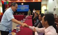 Nguyen Thien Nhan reçoit les patriarches Mong de Hoa Binh