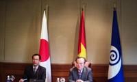 Truong Tan Sang reçoit le gouverneur de la province d'Ibaraki