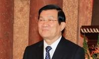 Le président Truong Tân Sang arrivé en Chine pour le sommet de l'APEC