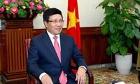 Pham Binh Minh apprécie les activités extérieures du pays en 2014