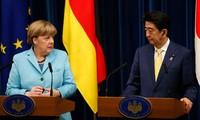 Angela Merkel en visite au Japon