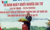 Quang Ngai célèbre le 70e anniversaire de l'insurrection de Ba To