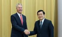 Truong Tan Sang: les relations Vietnam-Etats Unis devant un bel avenir