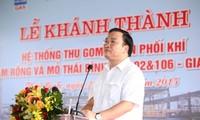 Inauguration d'un système de collecte et de distribution de gaz à Thai Binh