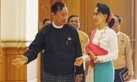 Myanmar : 1ère rencontre de réconciliation entre Suu Kyi et Shwe Mann