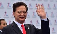 Le Premier ministre Nguyen Tan Dung est arrivé à Kuala Lumpur