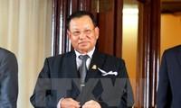 Nguyen Phu Trong reçoit le président du Sénat cambodgien