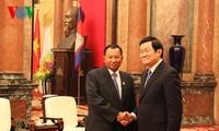 Le président vietnamien reçoit le président du Sénat cambodgien
