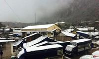 Neige apparue dans plusieurs localités du Nord
