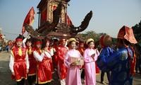 Nguyen Thi Doan à la fête des deux soeurs Trung