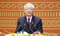 Les dirigeants se félicitent de la réélection de Nguyen Phu Trong