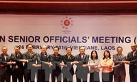 Les hauts officiels de l'ASEAN réunis au Laos