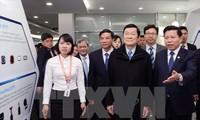 Le président Truong Tan Sang travaille dans la province de Bac Ninh