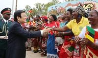 Truong Tan Sang termine sa visite d'Etat au Mozambique