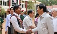 Déplacement de Truong Tan Sang à Binh Phuoc
