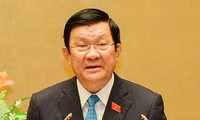 Rapport sur la libération de ses fonctions du président Truong Tan Sang