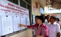 La présidente du Conseil electoral national se rend à Kien Giang