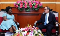 Nguyen Thien Nhan reçoit la vice-présidente de la Banque mondiale