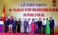 Van Cao, auteur de l'hymne national, reçoit à titre posthume l'Ordre Ho Chi Minh