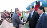 Le président Tran Dai Quang est arrivé au Brunei