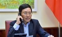 Covid-19: entretien téléphonique entre Pham Binh Minh et Motegi Toshimitsu