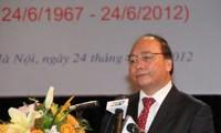 Peringatan ult ke-45 penggalangan hubungan diplomatik Vietnam-Kamboja di Hanoi.