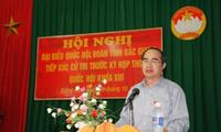 Deputi Perdana Menteri Nguyen Thien Nhan melakukan kontak dengan pemilih provinsi Bac Giang