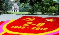 Turut bergembira pada Hari Kemerdekaan, ingat untuk selama-lamanya pada Presiden Ho Chi Minh.