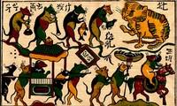 Membuat lukisan folklor Dong Ho, warisan budaya nonbendawi nasional