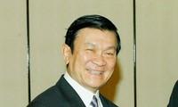 Presiden  Vietnam Truong Tan Sang melakukan kunjungan kenegaraan di Indonesia