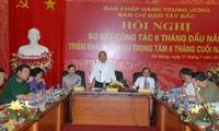 Konferensi menggelarkan tugas 6 bulan akhir tahun dari Badan Pengarahan daerah Tay Bac (Barat Laut)