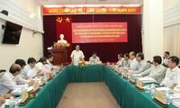 Rombongan pemeriksa Polit Biro melakukan temu kerja dengan Organisasi Partai Kementerian Transportasi dan Perhubungan