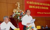 Deputi Perdana Menteri Nguyen Xuan Phuc melakukan kunjungan kerja di provinsi Dak Nong