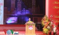 Ketua MN Nguyen Sinh Hung menghadiri upacara peringatan ulang tahun ke-65 Hari Berdirinya provinsi Vinh Phuc