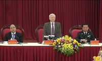 Sekjen KS PKV Nguyen Phu Trong melakukan temu kerja dengan  Inspektorat Pemerintah