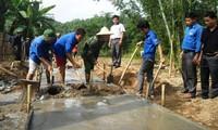 Kaum remaja ikut membangun pedesaan baru